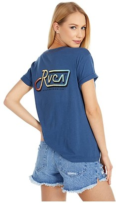 RVCA De-Lam Tee (Dark Denim) Women's Clothing