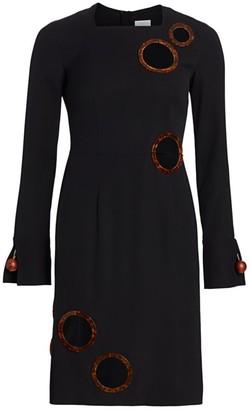 Burberry Silk-Blend Cutout Sheath Dress