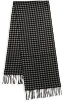 Saks Fifth Avenue Gingham Cashmere Scarf