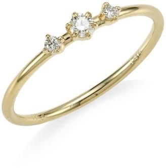 Ila Core Sancia Diamond & 14K Yellow Gold Ring