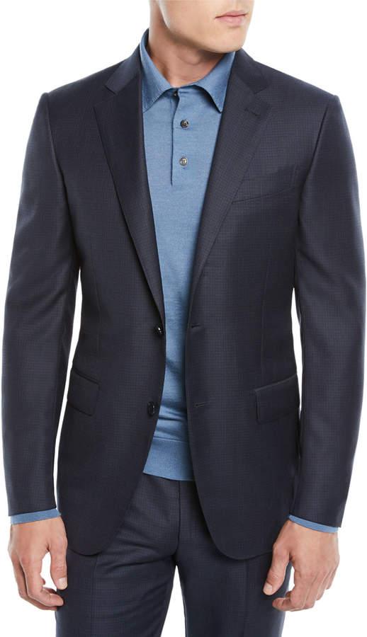 Ermenegildo Zegna Men's Graph Check Two-Piece Wool Suit