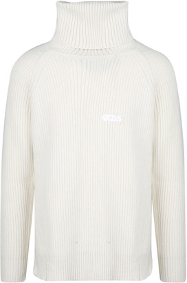 GCDS High Neck Ribbed Sweater