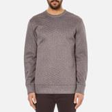 Helmut Lang Embossed Jersey Sweatshirt Grey