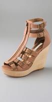 Luella Zip Wedge Sandals