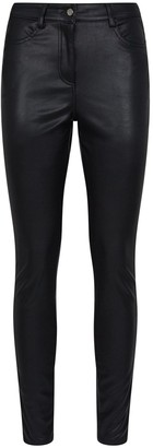 Dorothy Perkins Skinny Faux Leather PU Jeans -Black