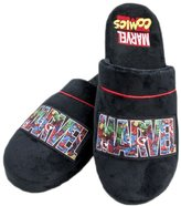 Marvel Official Comics Logo Adult Mule Slippers - One