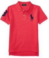 Ralph Lauren Cotton Mesh Polo Shirt, Tropic Pink, Size 2-4