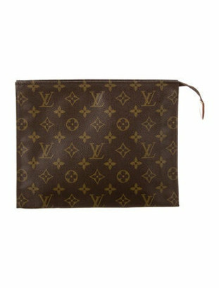 Louis Vuitton Vintage Monogram Toiletry Pouch 26 Brown