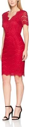 Gina Bacconi Women's Lace V Neck Dress