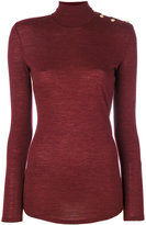 Balmain turtle neck sweater - women - Wool - 36