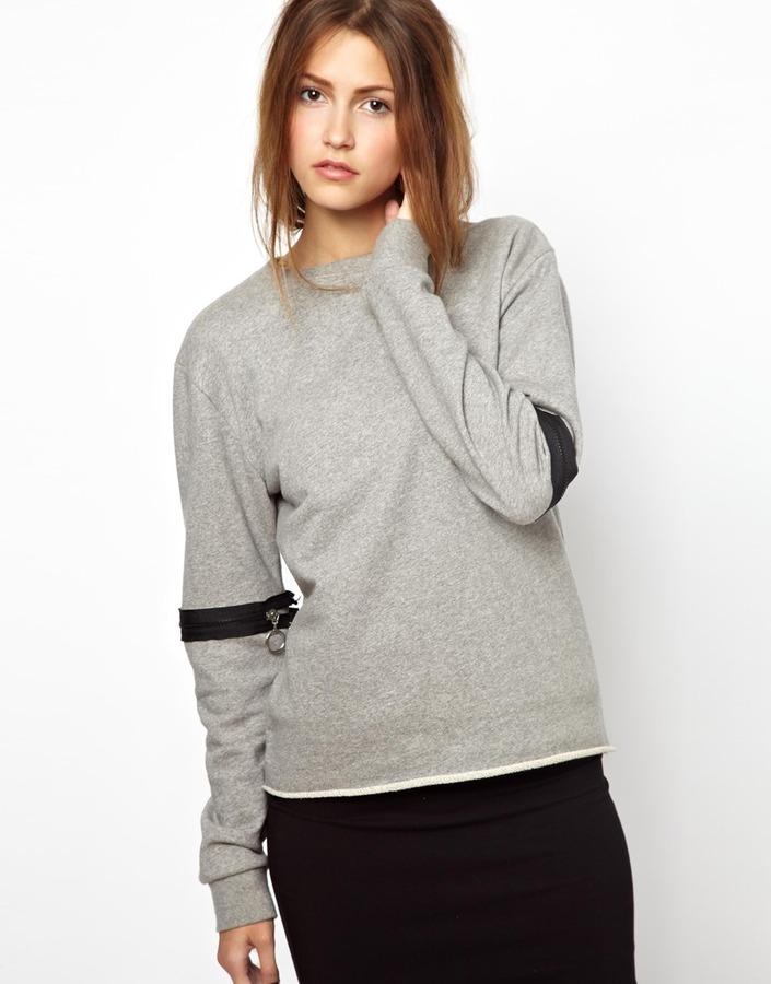 Ann Sofie Back BACK by Ann-Sofie Back Zip Sleeve Sweatshirt
