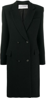 Valentino Fitted Double-Breasted Coat