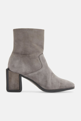 Clergerie Grey Suede Carly Ankle Boot