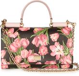 Dolce & Gabbana Von tulip-print leather cross-body bag