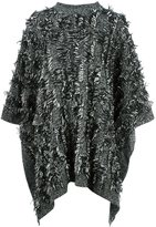 McQ by Alexander McQueen frayed edge poncho