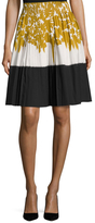Prada Cotton Floral Print A Line Skirt