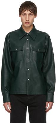 Séfr Green Faux-Leather Matsy Jacket