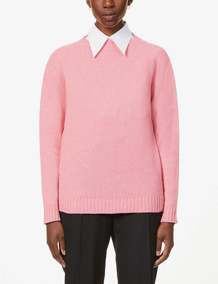 Prada Lana wool- and cashmere-blend jumper