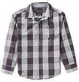 Calvin Klein Big Boys 8-20 Checked Woven Long-Sleeve Shirt