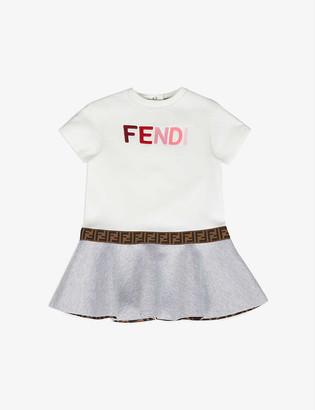 Fendi Logo-applique cotton-jersey dress 6-24 months