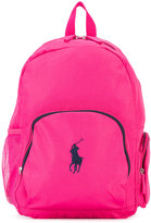 Ralph Lauren logo embroidery backpack - kids - polyester - One Size