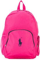 Ralph Lauren logo embroidery backpack