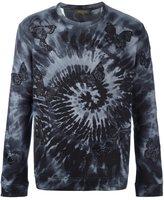 Valentino 'Rockstud Tie&Dye' embroidered butterfly sweatshirt - men - Cotton/Polyamide/Polyester/Viscose - M