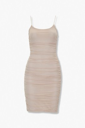 Forever 21 Ruched Bodycon Mini Dress