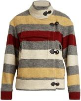 Etoile Isabel Marant Fred blanket-striped patch-pocket jacket