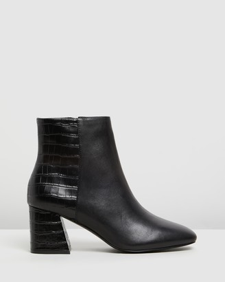 Aldo Layla Leather Ankle Boots