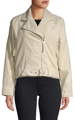 Lost + Wander Notch-Lapel Corduroy Moto Jacket
