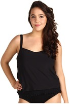 Miraclesuit Plus Size Solid Fantastic Faux Swimsuit (Black) - Apparel