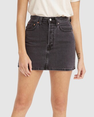 Levi's Women's Black Denim skirts - Ribcage Skirt - Size 24 at The Iconic
