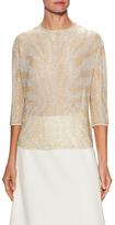 Jenny Packham Silk Embellished Blouse