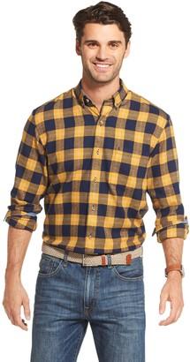 Izod Men's Sportswear Flannel Plaid Button-Down Shirt