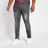 River Island Big and Tall grey Sid skinny fit jeans