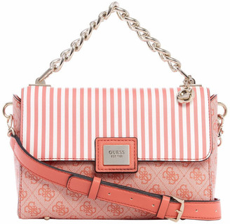 GUESS ST766818COR Candace Flap Over Crossbody Bag