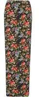 Dorothy Perkins Womens **Tall Black Floral Maxi Skirt- Fl Multi