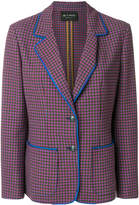 Etro checked two button blazer