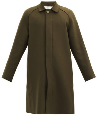 Toogood The Driver Single-breasted Wool-blend Coat - Green