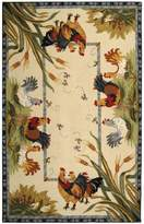 "Safavieh Chelsea Collection HK56A Hand-Hooked Ivory Premium Wool Area Rug (5'3"" x 8'3"")"