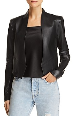Alice + Olivia New Harvey Leather Blazer