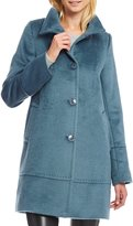 Katherine Kelly Pic Stitch Stand Collar Single Breasted Coat