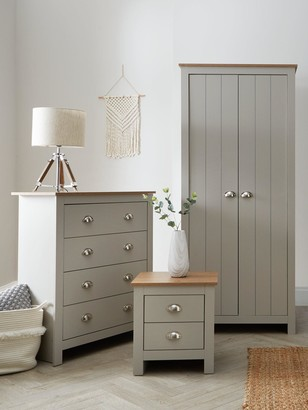 Atlanta 3 PiecePackage - 2 Door Wardrobe, 4 Drawer Chest and 2 Drawer Bedside Chest