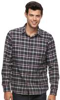 Apt. 9 Big & Tall Modern-Fit Plaid Brushed Flannel Button-Down Shirt