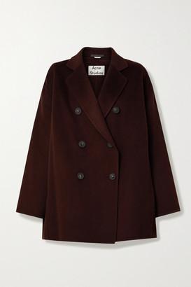 Acne Studios Double-breasted Wool Coat - Merlot