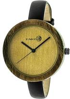 Earth Yosemite Collection ETHEW3704 Unisex Wood Watch with Leather Strap