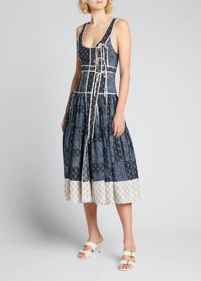 Ulla Johnson Keira Printed Sleeveless Midi Dress