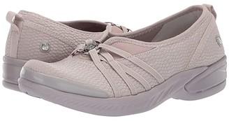 Bzees Niche (Dark Grey Rectangle Fabric) Women's Slip on Shoes