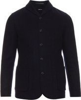 Giorgio Armani Shawl-collar wool and cashmere blazer